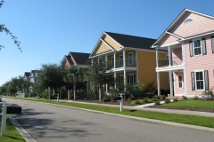 A view of the homes on James Island Avenue in Charleston Landing